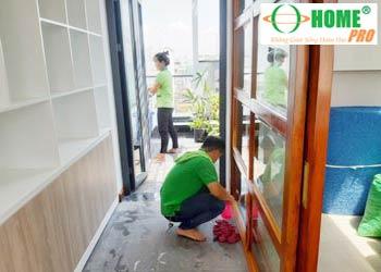 Bảng giá dịch vụ vệ sinh căn hộ chung cư sau xây dựng-homepro