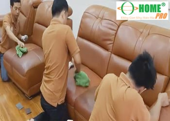 Bảng giá dịch vụ vệ sinh ghế Sofa da, ghế Salon da-homepro