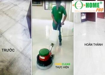 Dịch vụ đánh bóng sàn đá Marble tại TPHCM-homepro
