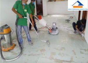 dịch vụ mài và đánh bóng khôi phục sàn đá mài Terrazzo và Granito