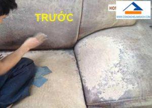 dịch vụ sửa chữa sơn mới ghế da sofa ghế da salon bị bạc màu bong tróc màu