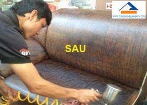 dịch vụ sửa chữa sơn mới ghế da Sofa ghế da Salon bị rách trầy xước-công-nghệ-làm-sạch