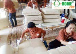 Dịch vụ sửa chữa sơn mới ghế Sofa (Salon) da bị bạc màu-homepro