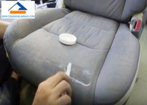 Dịch vụ sửa chữa và sơn mới ghế da xe hơi (ô tô) bị rách thủng lỗ trầy xước