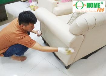 Dịch vụ vệ sinh ghế Sofa da, ghế Salon da-homepro