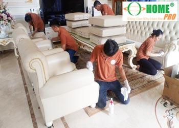 Dịch vụ vệ sinh ghế Sofa giả da, Salon giả da-homepro
