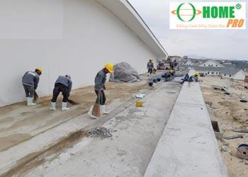 Quy trình sản xuất thi công sàn đá mài Granito-homepro