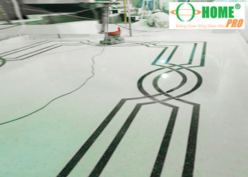 Quy trình sản xuất thi công sàn đá mài Terrazzo-homepro