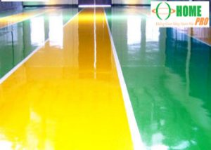 Quy trình sơn Epoxy sàn nhà xưởng hệ tự phẳng-homepro