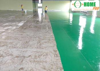 Quy trình thi công sơn Epoxy sàn nhà xưởng hệ lăn-homepro