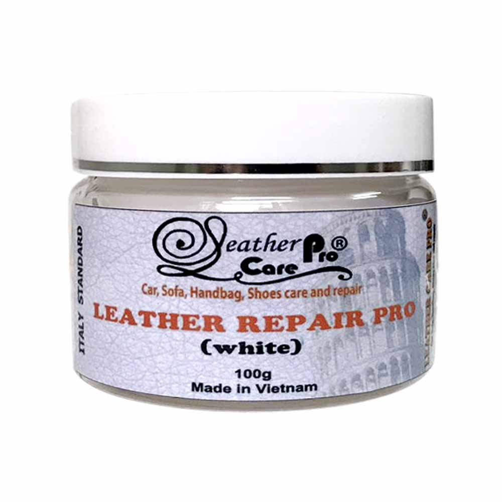 Keo trét sửa chữa vết nứt bề mặt ghế da, túi xách da – Leather Repair Pro (White)