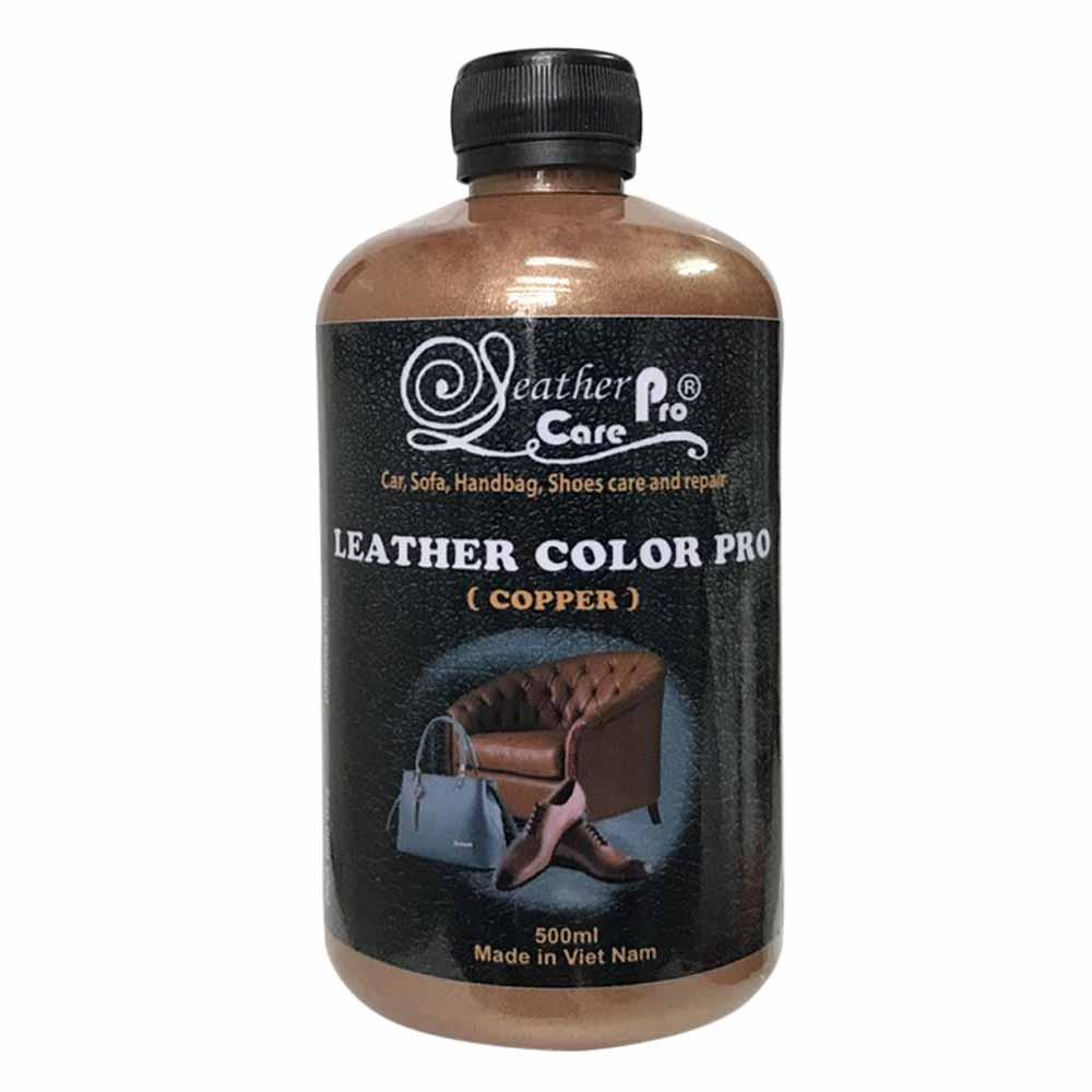 Màu sơn ghế da xe ô tô, túi xách da, giày da – Leather Color Pro (Copper)