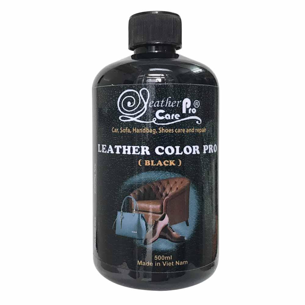 Màu sơn túi xách da, ghế da xe ô tô, ghế Sofa da, giày da – Leather Color Pro (Black)