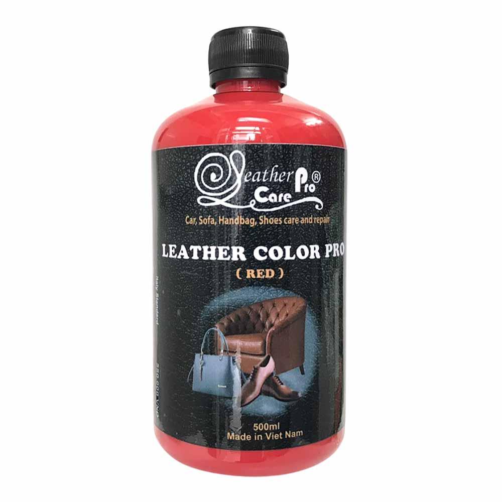 Màu sơn túi xách da, ghế Sofa da, ghế da xe ô tô – Leather Color Pro (Red)
