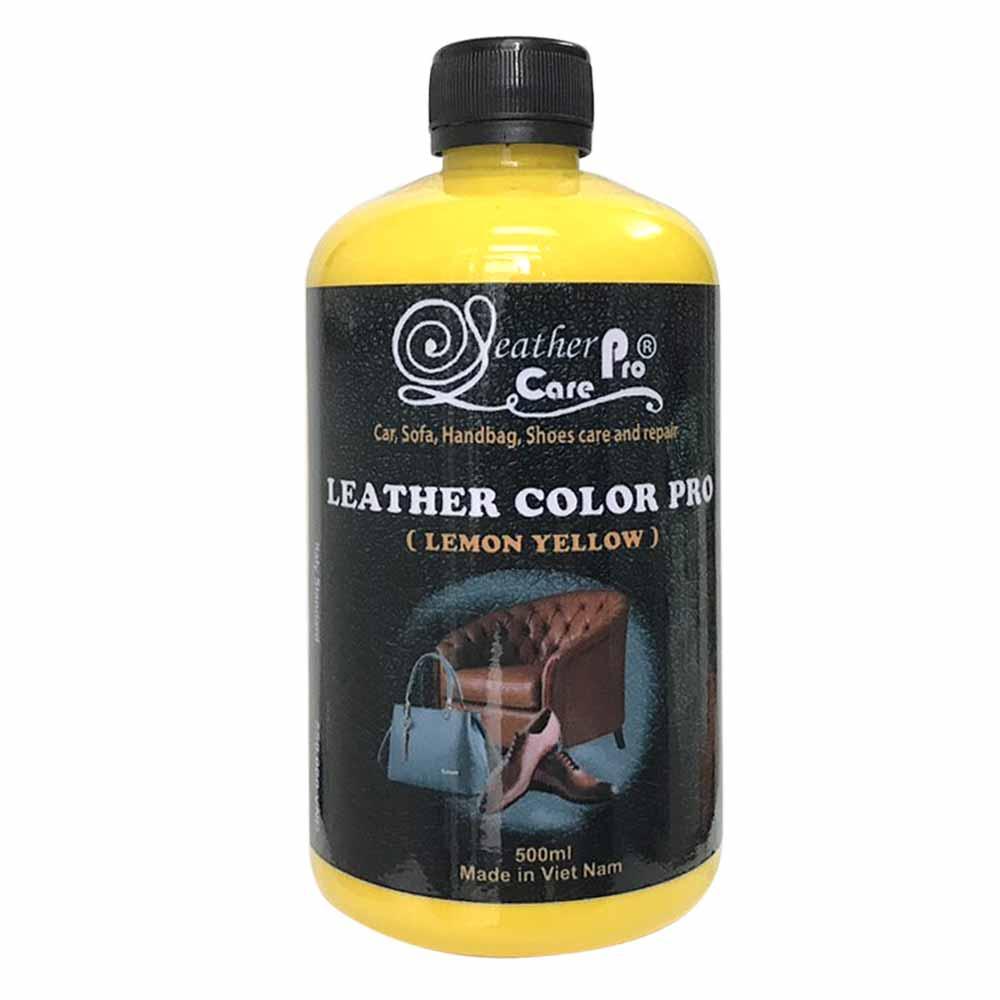 Màu sơn túi xách da, ghế Sofa da, giày da, ghế da xe ô tô – Leather Color Pro (Lemon Yellow)