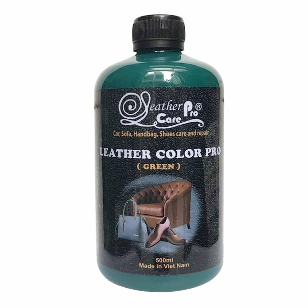 Màu sơn túi xách da, giày da, ghế da xe ô tô – Leather Color Pro (Green)