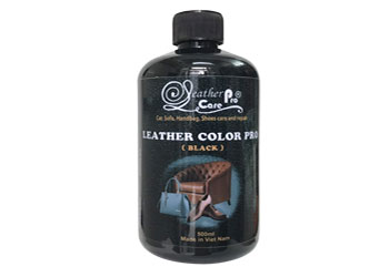 Màu sơn ghế da xe ô tô (xe hơi) - Leather Color Pro (Black)-Leather Color Pro_Black_350x250