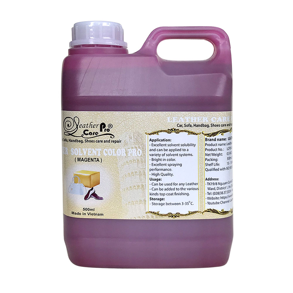 Màu sơn túi xách da, màu sơn ghế da ô tô – Leather Solvent Color Pro (Magenta)